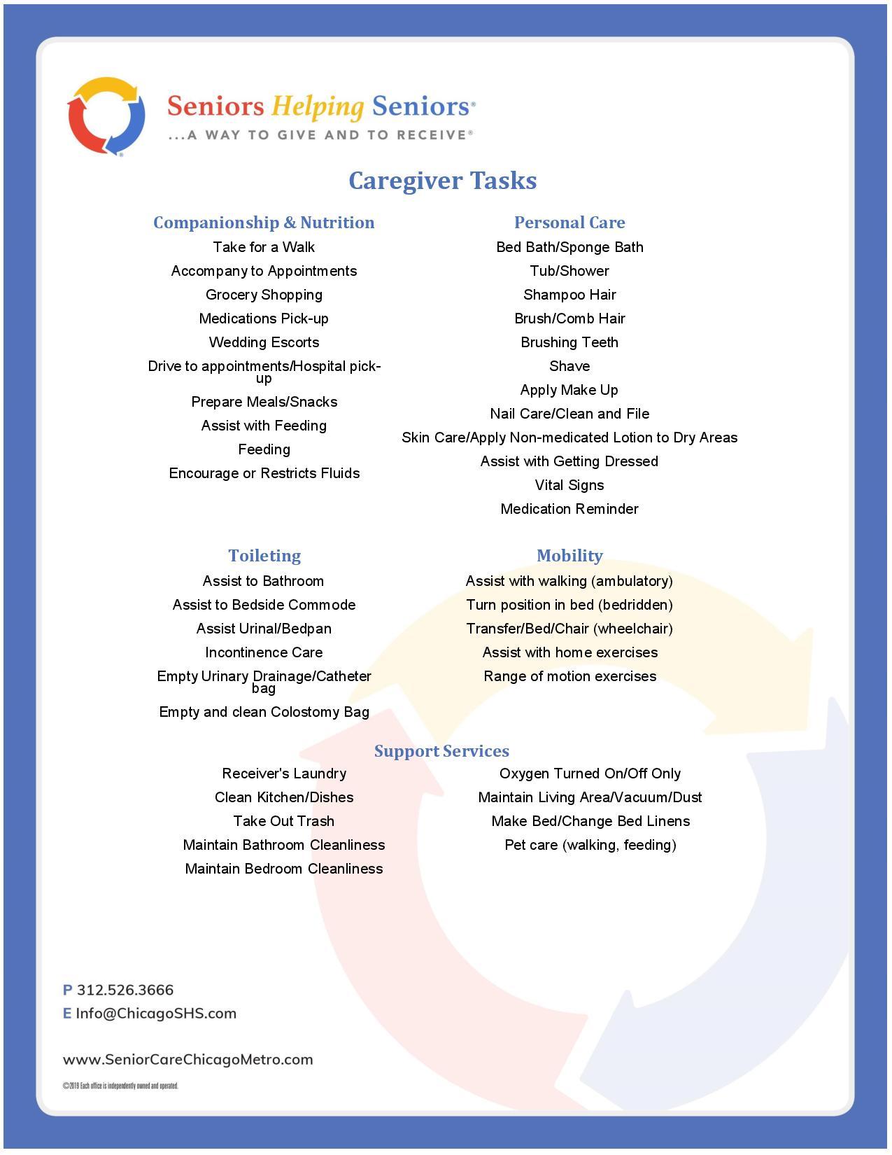 Caregiver Tasks